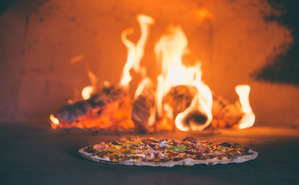 Pizza in the Wood-fired Oven