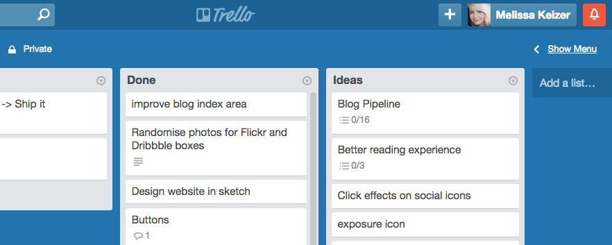 My ever-growing to-do list on Trello