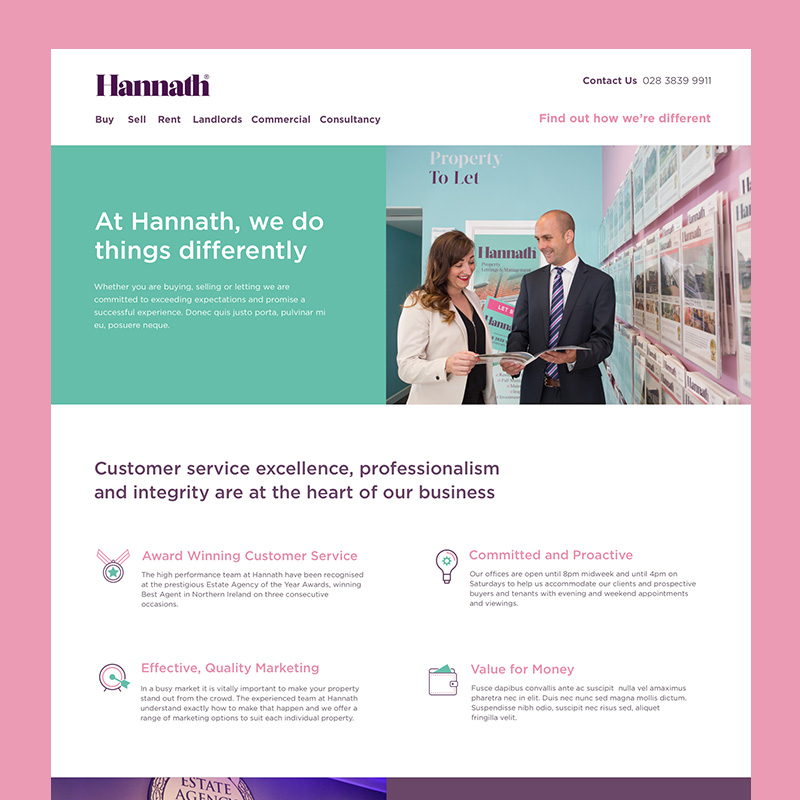 The website I designed for Hannath