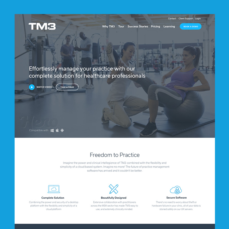 The website I designed for TM3