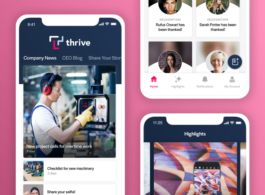 Thrive Mobile App on iOS